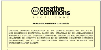 creative commons en euskera