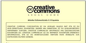 creative commons en euskera