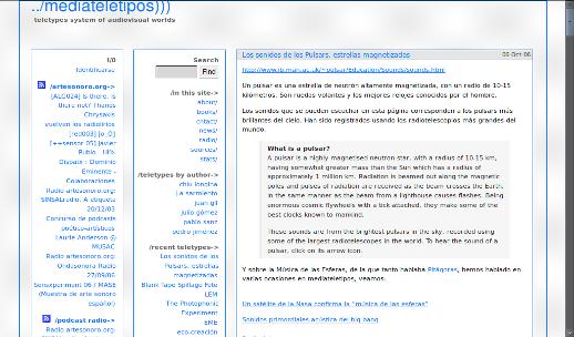 ./mediateletipos en octubre 2006, a poco de que yo lo conociera. (La Wayback Machine del Internet Archive es lo más.)