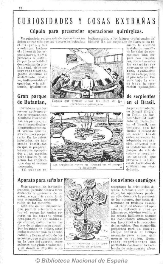 aparato para señalar los aviones enemigos. Almanaque 1933 mediateletipos sonido