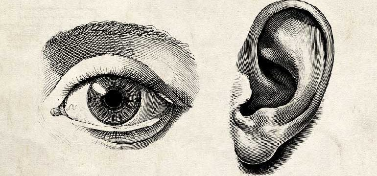The Pleasures of the Eye and Ear Compared